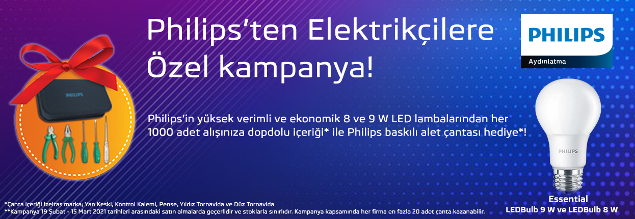 Philips'ten Elektrikçilere Özel Kampanya